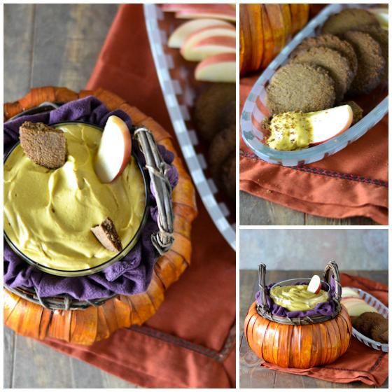Creamy Cashew Pumpkin Dip @Cara's Cravings