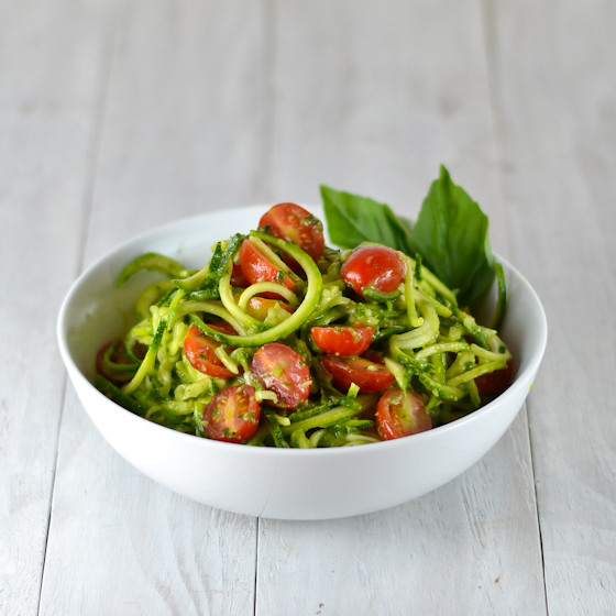 Zucchini Noodles with Basil Avocado Sauce @Cara's Cravings-2