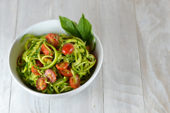 Zucchini Noodles with Basil Avocado Sauce @Cara's Cravings-3