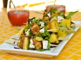 Watermelon, Feta & Arugula Skewers @ Cara's Cravings-1
