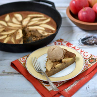 Ginger Skillet Apple Cake @Cara's Cravings-3
