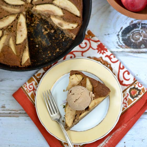 Ginger Skillet Apple Cake @Cara's Cravings-4