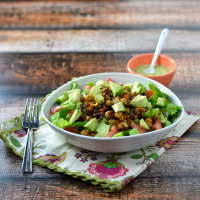 Vegan Oat Taco Crumble Salad @Cara's Cravings-2